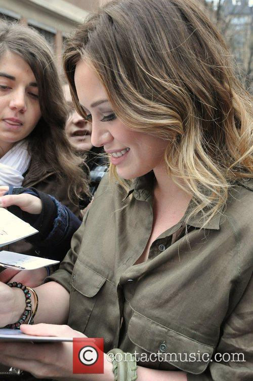 Hilary Duff at NRJ radio Paris, France