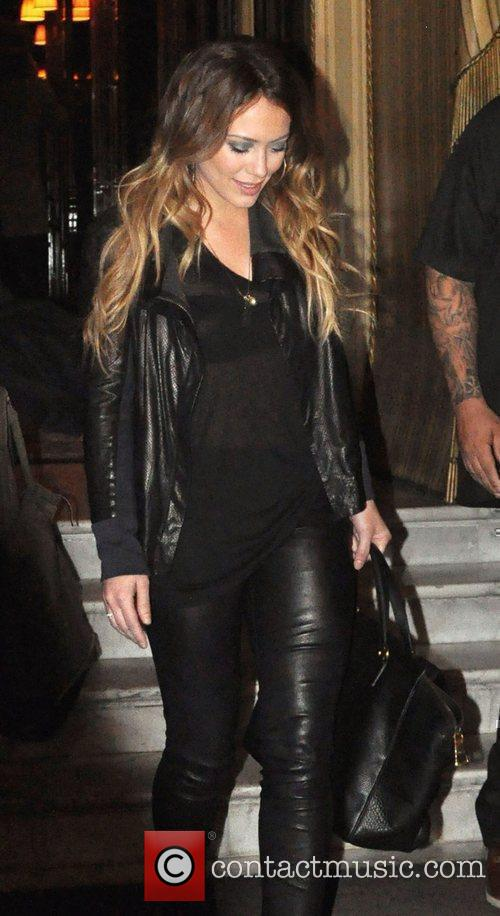 Hilary Duff leaving the Costes hotel in Paris...