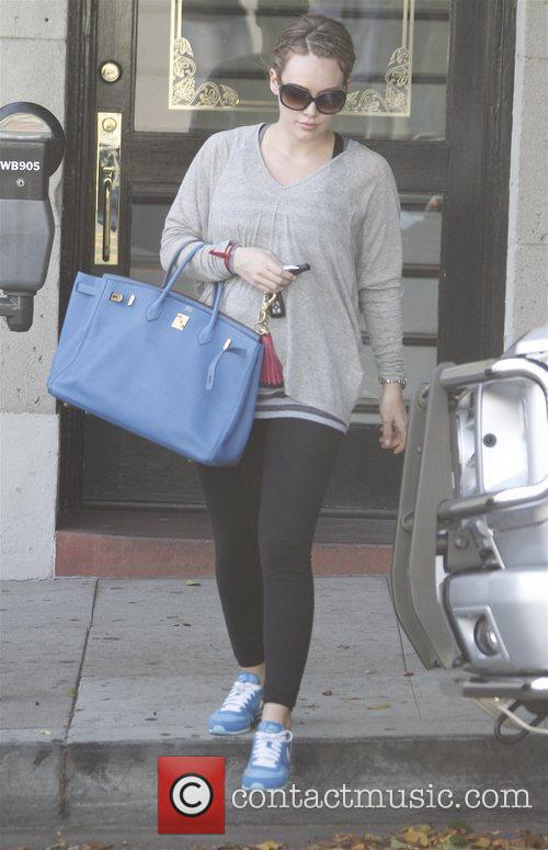 Leaving a salon in Beverly Hills