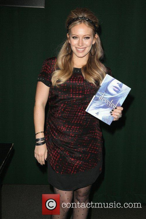 Hilary Duff  promotes her new book 'Devoted'...
