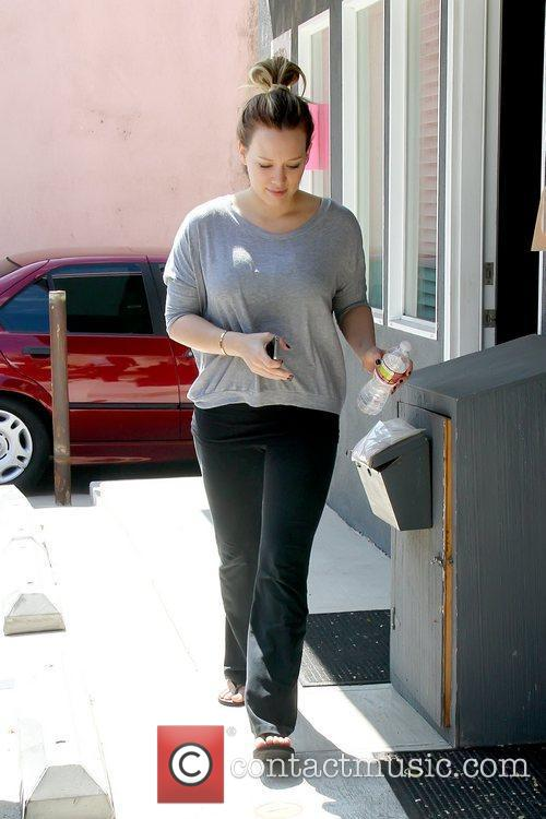 Pregnant actress leaving a gym in Toluca Lake...