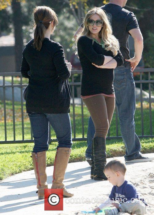 pregnant hilary duff and her husband spend 5759989