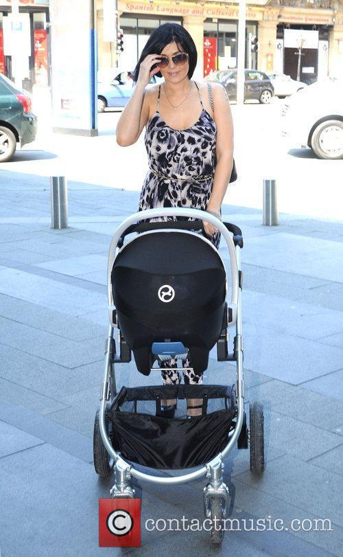 Kym Marsh arrives at the Hilton hotel for...