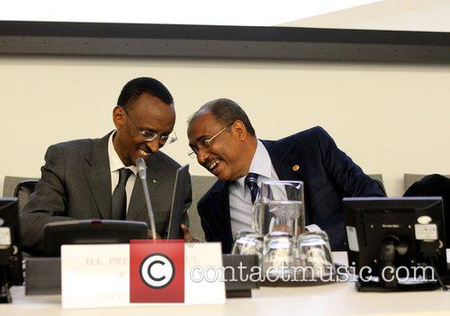 H.E. President Paul Kagame and Director of UNAIDS...