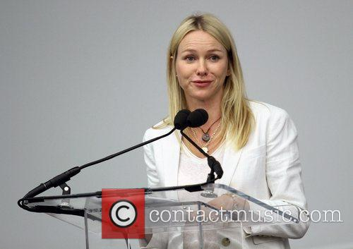 Naomi Watts speaking at the HIV Priorities For...