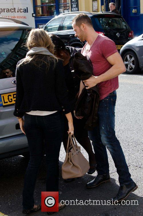 Artem Chigvintsev and Holly Valance arriving at rehearsals...