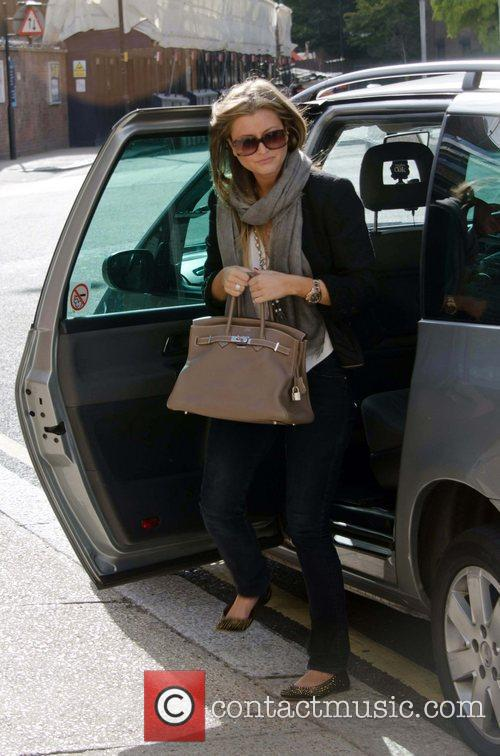 Holly Valance arriving at rehearsals for 'Strictly Come...