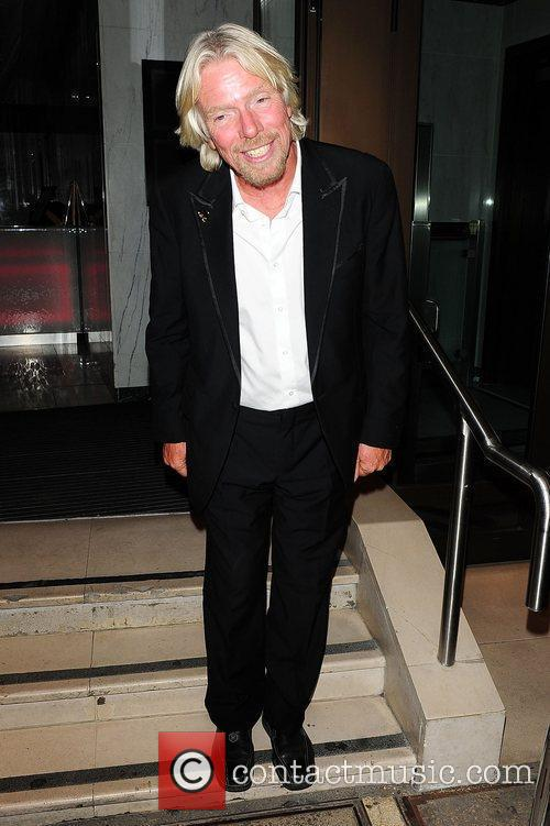Richard Branson at the engagement party of Holly...
