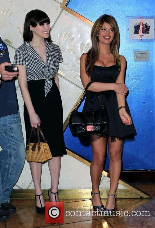 Holly Madison Hand Print Ceremony at Planet Hollywood...