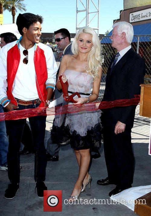 B Howard, Holly Madison Holly Madison attends the...