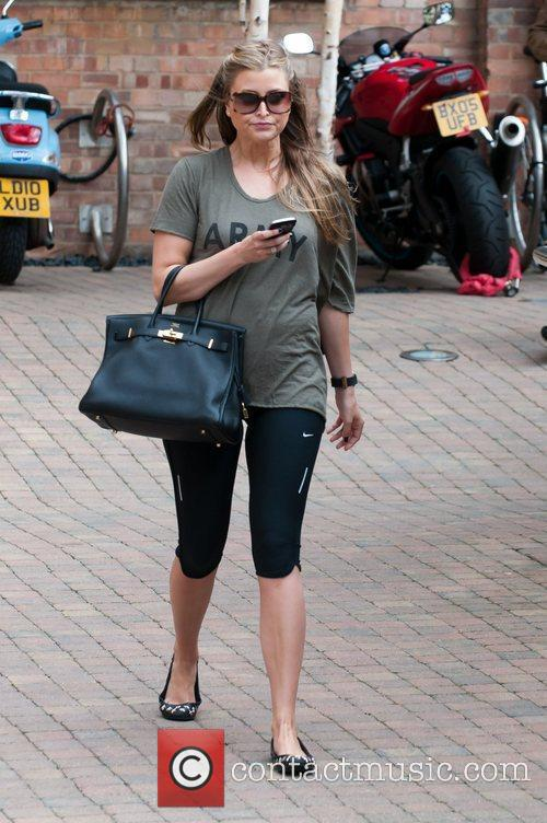 Leaving rehearsals for Strictly Come Dancing 2011