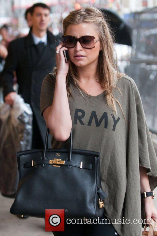 Holly Valance  leaving rehearsals for Strictly Come...