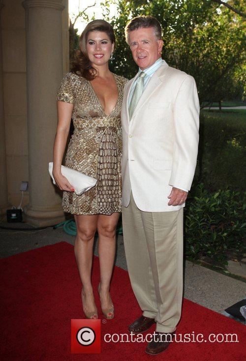 Alan Thicke (R) and Girlfriend Tanya Callau 13th...