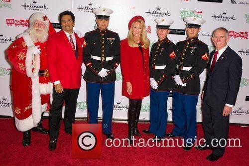 Santa Clause, Eric Estrada,Laura McKenzie and US Marines...