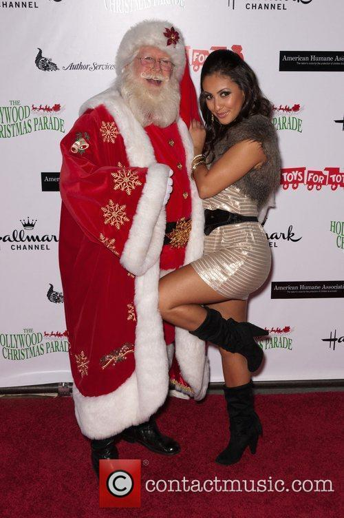 Francia Raisa and Santa Claus  The 80th...