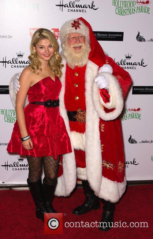 Stefanie Scott with Santa Claus  The 80th...