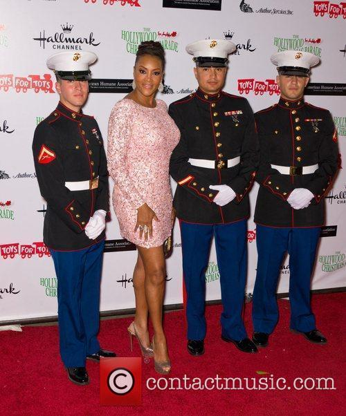 Vivica A. Fox with US Marines  The...