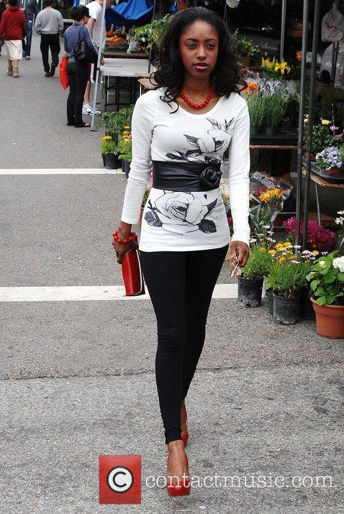 Ameona Almund Celebrities spend the day shopping at...