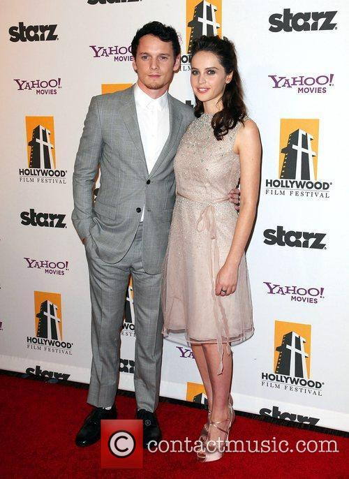Anton Yelchin, Felicity Jones and Beverly Hilton Hotel 1