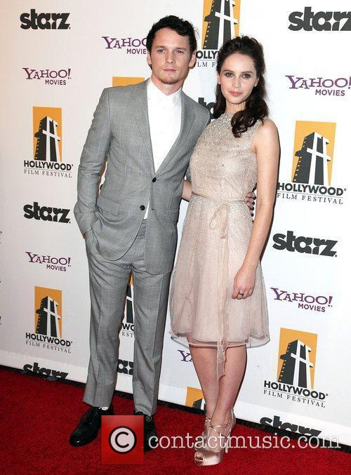 Anton Yelchin, Felicity Jones and Beverly Hilton Hotel 3