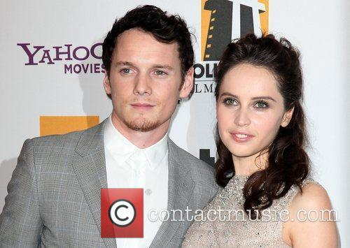 Anton Yelchin, Felicity Jones and Beverly Hilton Hotel 2