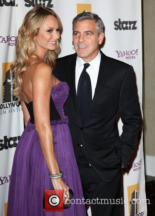 Stacy Keibler, George Clooney, Beverly Hilton Hotel