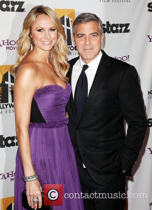 Stacy Keibler, George Clooney and Beverly Hilton Hotel 7