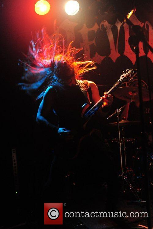 Heavy metal band, Holy Grail performing live at...
