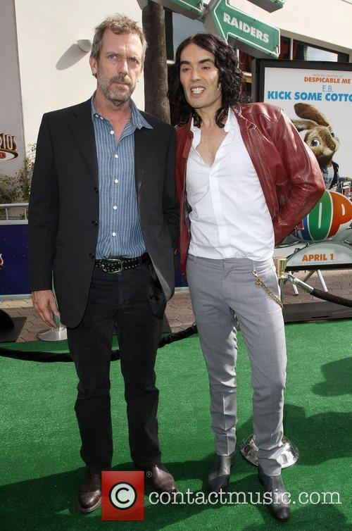 Hugh Laurie, Russell Brand Los Angeles premiere of...