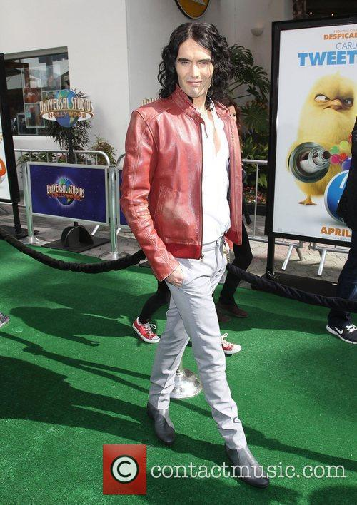 Russell Brand Los Angeles premiere of 'Hop' at...