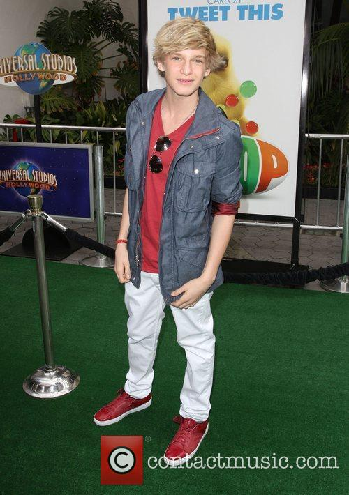 Cody Simpson Los Angeles premiere of 'Hop' at...