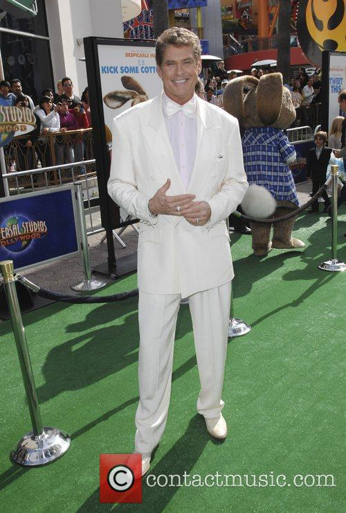 David Hasselhoff,  Los Angeles premiere of 'Hop'...