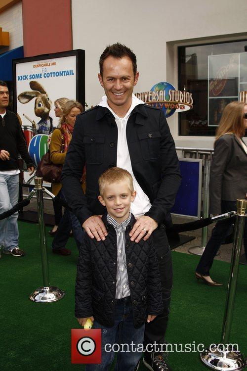 Gregg Ellis, son Charlie,  Los Angeles premiere...
