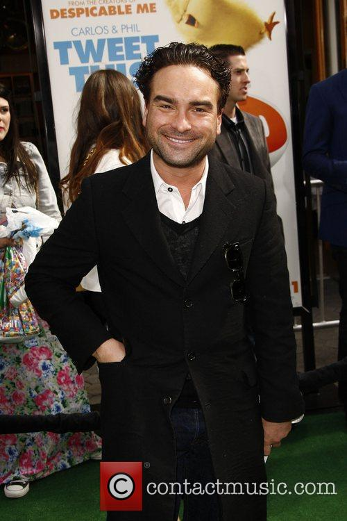 Johnny Galecki,  Los Angeles premiere of 'Hop'...