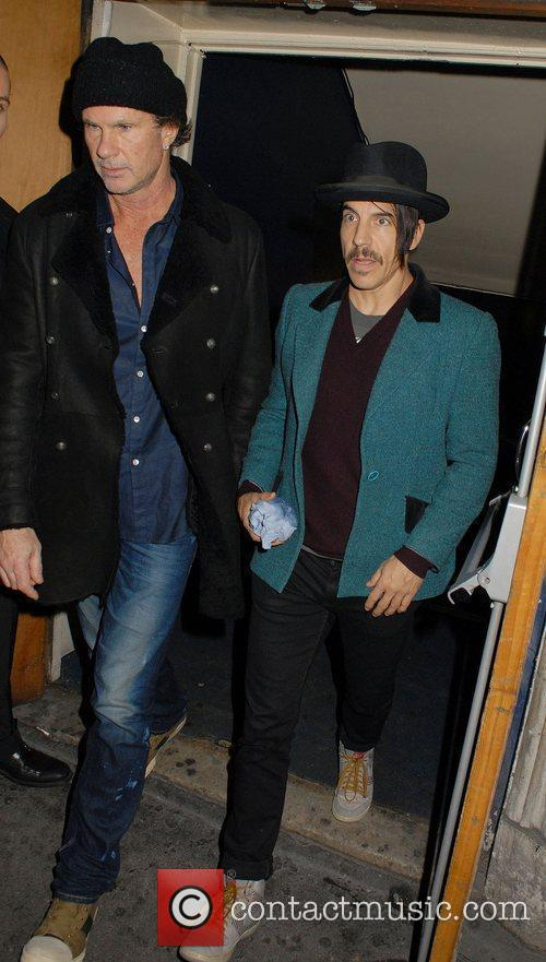 Chad Smith, Anthony Kiedis and Cafe De Paris 2