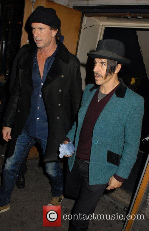 Chad Smith, Anthony Kiedis and Cafe De Paris 5
