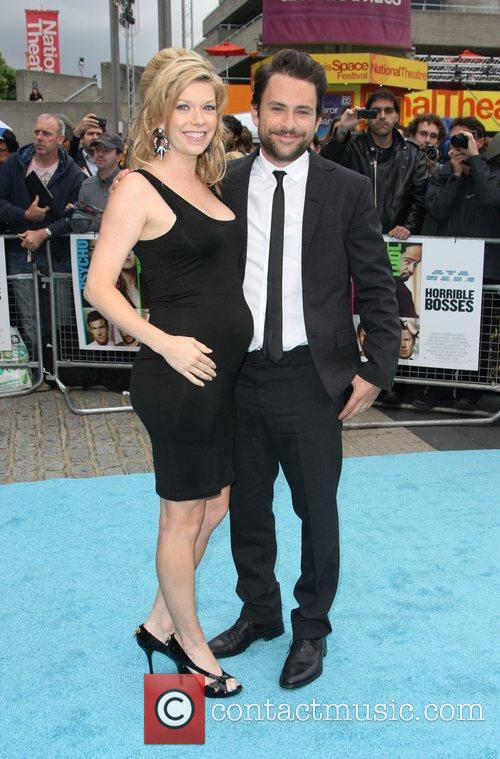 Charlie Day with his wife Mary Elizabeth Ellis...
