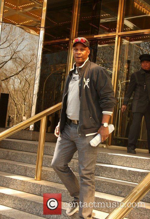 Darryl Strawberry leaving his hotel New York City,...