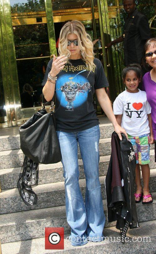 Fergie leaving her hotel in Manhattan  New...