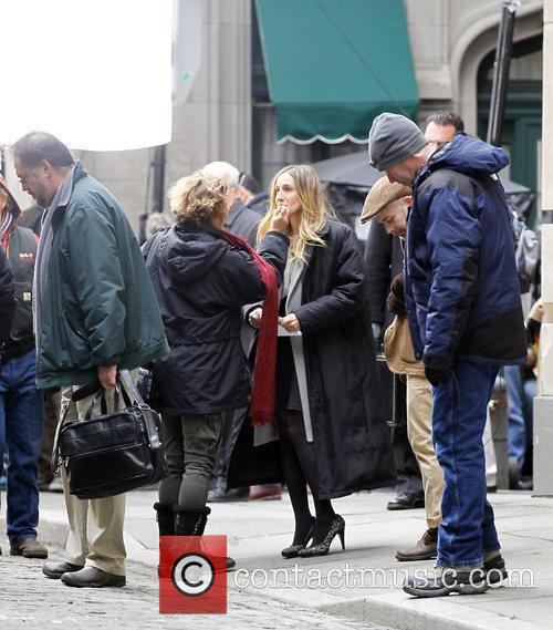 Sarah Jessica Parker on the set of her...