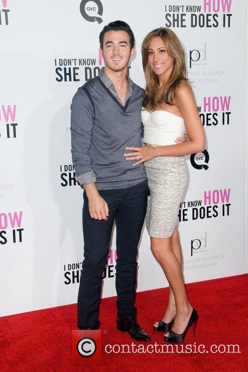 Kevin Jonas and Danielle Deleesa New York premiere...