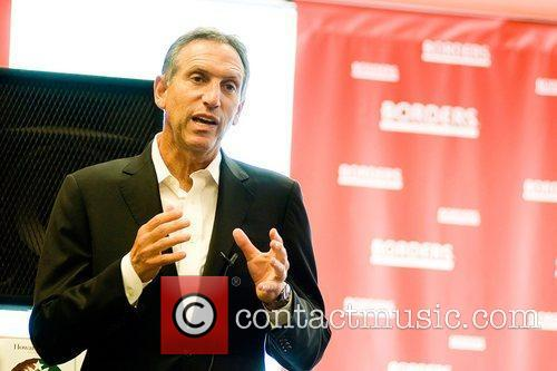 CEO of Starbucks, at a book discussion on...