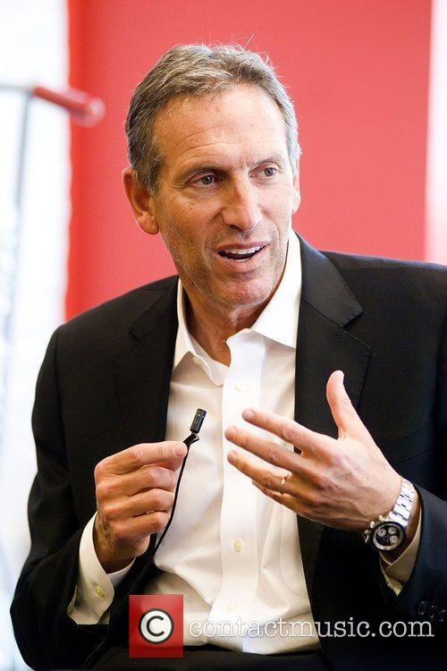 Howard Schultz CEO of Starbucks, at a book...