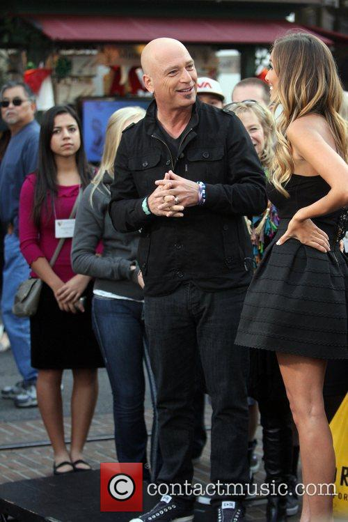 Howie Mandel seen at The Grove filming an...