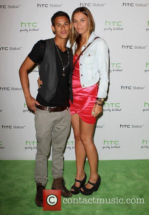 Bronson Pelletier and his girlfriend, model Sabine Moestrup...