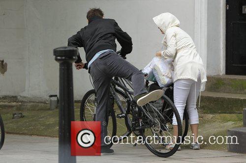 Kate Hudson and Matt Bellamy  riding their...