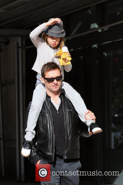Hugh Jackman out and about in Tribeca with...