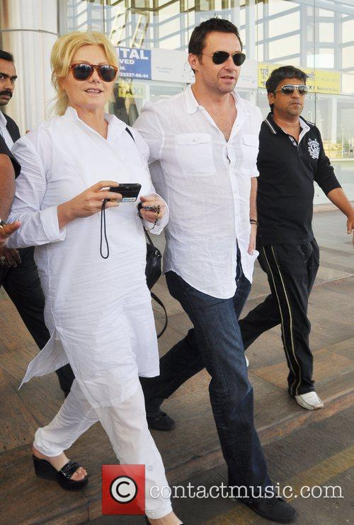 Hugh Jackman arrives at Jaipur airport with his...