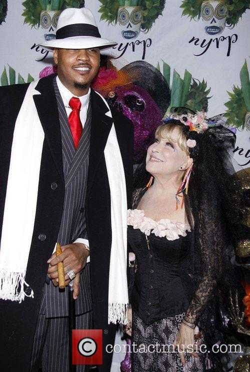 Carmelo Anthony and Bette Midler 4