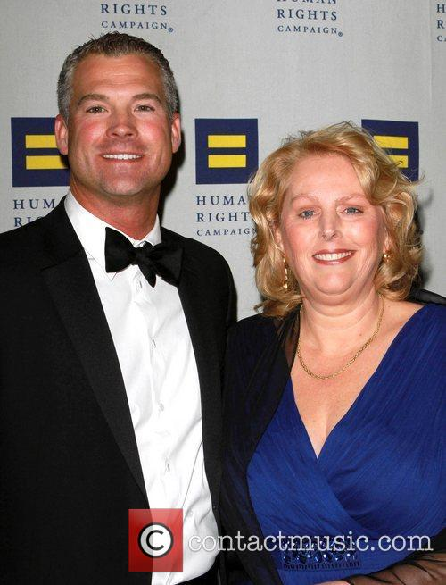 Andy Arnold and HRC gala co-chair Clare Thomas...